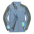 美國百分百【全新真品】Columbia 外套 哥倫比亞 夾克 Omni shield 防水 防汙 藍灰 透氣 防風 男 S號