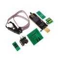 ✿bbyes✿1 Set New EEPROM BIOS USB Programmer CH341A + SOIC8 Clip + 1.8V & SOIC8 Adapter