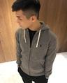 美國百分百【全新真品】Ralph Lauren 外套 RL 連帽外套 夾克 Polo 小馬 棉質 灰色 S號 J727
