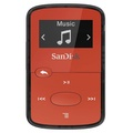 SanDisk SDMX26-008G-G46R 8GB Clip Jam MP3 Player, Red