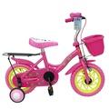 台灣製-EMC追風12吋兒童腳踏車(含前籃+後貨架)(粉/藍/黃)-只能宅配
