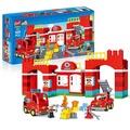 {童書天地}大顆粒,109pcs城市消防局積木組(可與LEGO樂高得寶積木組合玩)