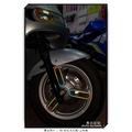【無名彩貼】gogoro2-delight系列專用車身右側 - 三環爪 彩虹色 3M 反光框貼 - 一車份