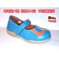 零碼鞋 7號 Zobr 路豹 牛皮氣墊娃娃鞋6225 水藍色 ( 6系列) 特價890元 免運費 不對襯鞋面