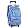 25L Teenager 6 Wheels Detachable Travel Trolley Luggage Backpack Student School Bag