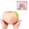 Puni Maru 22cm 8.6 Inches Humongous Pink Peach Squishy Huge Slow Rising Fruit Toy