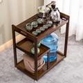 楠竹茶車茶水櫃餐邊櫃手推式帶輪可移動茶水架子泡茶桌茶几組裝式