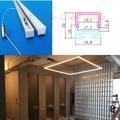 Light club 訂製款LED 無光點鋁條燈 崁入型 直角型 吊燈型 吸頂式 展示櫃 櫥櫃燈 間接照明  硬條燈