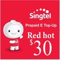 Singtel Prepaid eTopUp Red hot  SGD30