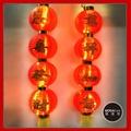 春節四字中型裝飾燈籠串(兩串)+LED50燈暖白光插電燈2串