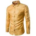 MENS ชุดเสื้อปักลาย Casual เสื้อแขนยาวผู้ชายเสื้อฮาวายสีแดงสีเหลือง