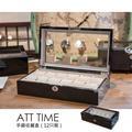 【完全計時】錶盒館│鋼琴烤漆原木手錶收藏盒【12只入】黑天鵝 附鎖 開窗 (鋼琴09-1)