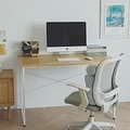 Peachy Life 北歐風格美學工作桌/電腦桌/書桌(2色可選)原木桌搭白腳