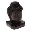 Fityle Wooden Buddist Head Statue Figurine India Buddha Head Statue Craft Ornament