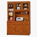 日式量販 橫紋樟木4尺實木隔間餐櫃