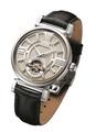 Arbutus Men's Leather Strap Watch AR802SIB