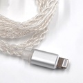 KZ Earphone Silver Plated Upgrade Cable MFI Lightning for KZ ZS6 ZSA ZS10 AS10 for iPhone 8 Plus 7 X