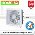 KDK Window Mounted Ventilating Fan 30cm 30RLE (For Home Use) * Without INSTALLATION*