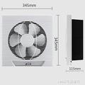 排氣扇 竹野換氣扇10寸廚房窗式排風扇排油煙 家用衛生間靜音牆壁抽風機 1995生活雜貨NMS