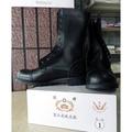 憲兵甲鞋不含綁拉鍊 只有黑色的  真皮甲鞋 軍威大廠出產