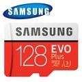 SAMSUNG 三星 128GB 100MB/s EVO Plus microSDXC U3 C10 記憶卡
