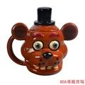 【特價新品8折優惠】\n\n\n\nFreddy玩具熊的午夜五夜后宮公仔 游戲周邊弗雷迪創意陶瓷馬克杯