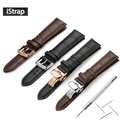 iStrap Watchband 18mm 19mm 20mm 21mm 22mm 24mm Soft Calf Genuine Leather Watch Strap Alligator Grain Watch Band for Tissot Seiko
