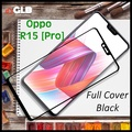 1x Oppo R15  R15 Pro Full Cover Tempered Glass Screen Protector Black