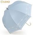 LEHO《悠。時光》英式優雅玻纖直傘(珍珠藍)