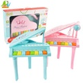 【Playful Toys 頑玩具】三角電子琴+麥克風(兒童電子琴 兒童鋼琴 兒童樂器 音樂麥克風 兒童玩具)