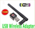 Mini 150M USB WiFi Wireless Network Networking Card LAN Adapter with Antenna Computer Accessories