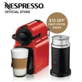 Inissia Coffee Machine (Red) & Aeroccino Milk Frother Bundle