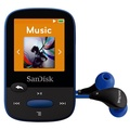 SanDisk Clip Sport 8GB MP3 Player, Blue With LCD Screen and MicroSDHC Card Slot (Renewed)