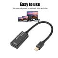 DisplayPort至HDMI Mini DisplayPort DP1.2至HDMI1.4視頻