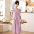 【華歌爾睡衣】冰涼紗 居家休閒 M-L 短袖睡衣裙裝(紫)-舒適睡衣-柔膚手感-快乾特性