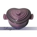 *Le Creuset 法廚*限量絕美 cassis深紫 愛心飛翔烤盅 非鑄鐵鍋 -現貨