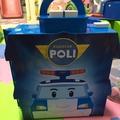 二手正版POLI波力收納玩具小車手提箱