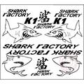個性摩托車貼紙反光貼花 助力車反光套貼 電動車鯊魚K1拉花貼紙