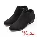 kadia.簡約素面絨布短靴(7711-95黑色)