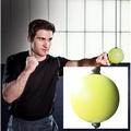拳擊速度球 拳擊反應球搏擊球減壓躲閃訓練器發洩球 反應訓練器材(1816元)