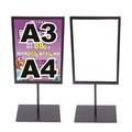 5Cgo 桌上型廣告立牌展示架A3宣傳牌A4桌面指示牌立牌水牌菜單架收銀台價目表KT板含壓克力529458471662