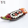ABS日式料理龍舟盛器 壽司船刺身船干冰料理船特價三文魚盤刺身盤