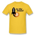 Hot Selling Bitcoin To The Moon printed cool Short Sleeve