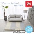 《韓國FOLDAWAY》Hello首爾 - 4cm特厚遊戲墊 - 200*140