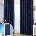 日創優品 滿天亮星星雙開拉摺遮光窗簾-200x165cm(贈品任選)