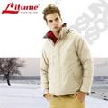 【意都美 Litume】 單件式防水透氣保暖羽絨外套衣(附帽可收)_ F3135 卡其/碳灰