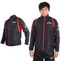 (男) ASICS 運動外套-立領 慢跑 路跑 風衣 黑白
