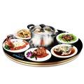 弗勒斯 暖菜寶飯菜保溫板圓形加熱器旋轉調溫家用保溫餐桌熱菜墊WD  初語生活館