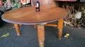 -古今-檜木~原木桌 圓桌 矮木桌
