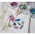 美甲 12色天然光澤紋路薄款貝殼片 貝殼粉 光療 凝膠